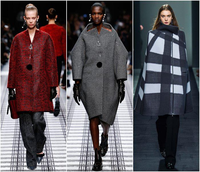 Пальто жесткого силуэта осень-зима 2015-2016
