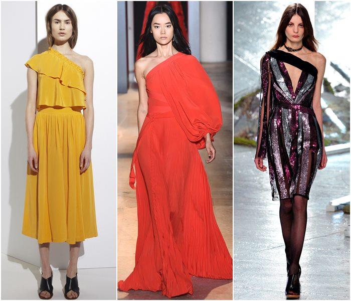 Платья с асимметричным лифом осень-зима 2015-2016