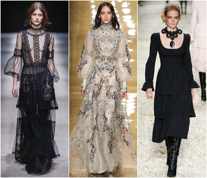 Платья в викторианском стиле осень-зима 2015-2016