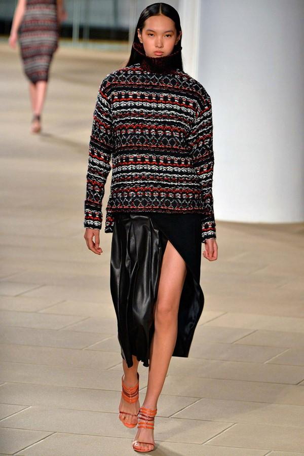 Кожаные юбки осень-зима 2015-2016: Prabal Gurung