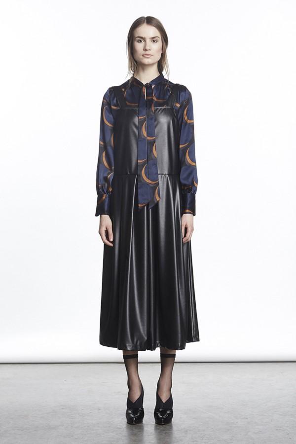 Кожаные платья осень-зима 2015-2016: Rachel Comey