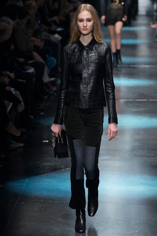 Кожаные куртки осень-зима 2015-2016: Roberto Cavalli