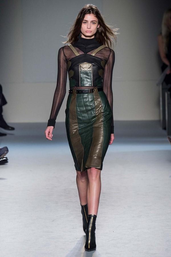 Кожаные платья осень-зима 2015-2016: Roland Mouret