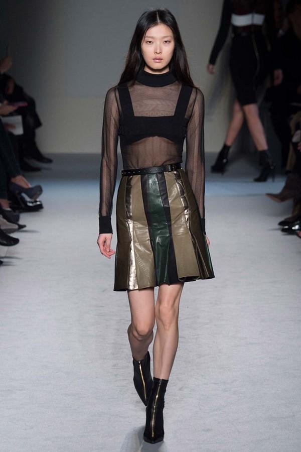 Кожаные юбки осень зима 2015 2016 14 фото