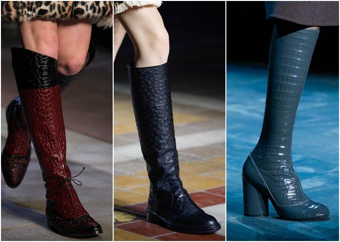 модные сапоги осень-зима 2015-2016 фото