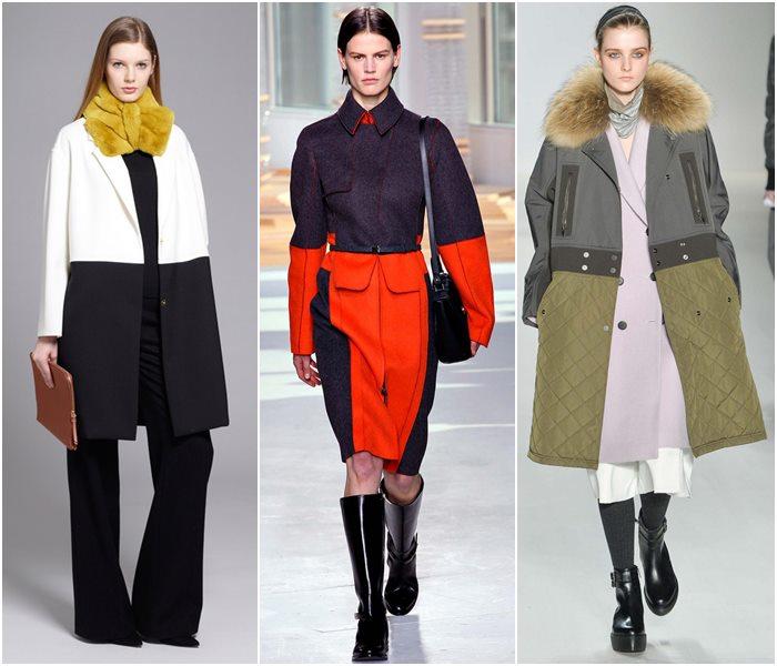 Цветовые контрасты в пальто осень-зима 2015-2016