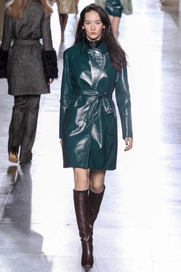 Кожаные пальто и плащи осень-зима 2015-2016: Topshop Unique