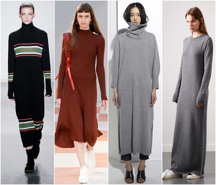 Трикотажные платья осень-зима 2015-2016