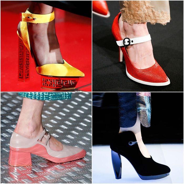 Туфли на контрастной подошве осень-зима 2015-2016