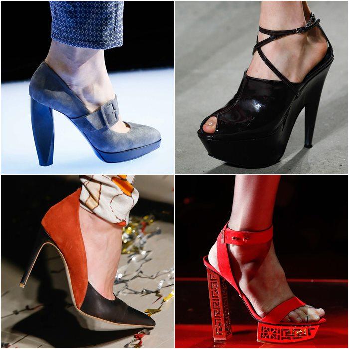 Туфли на платформе осень-зима 2015-2016