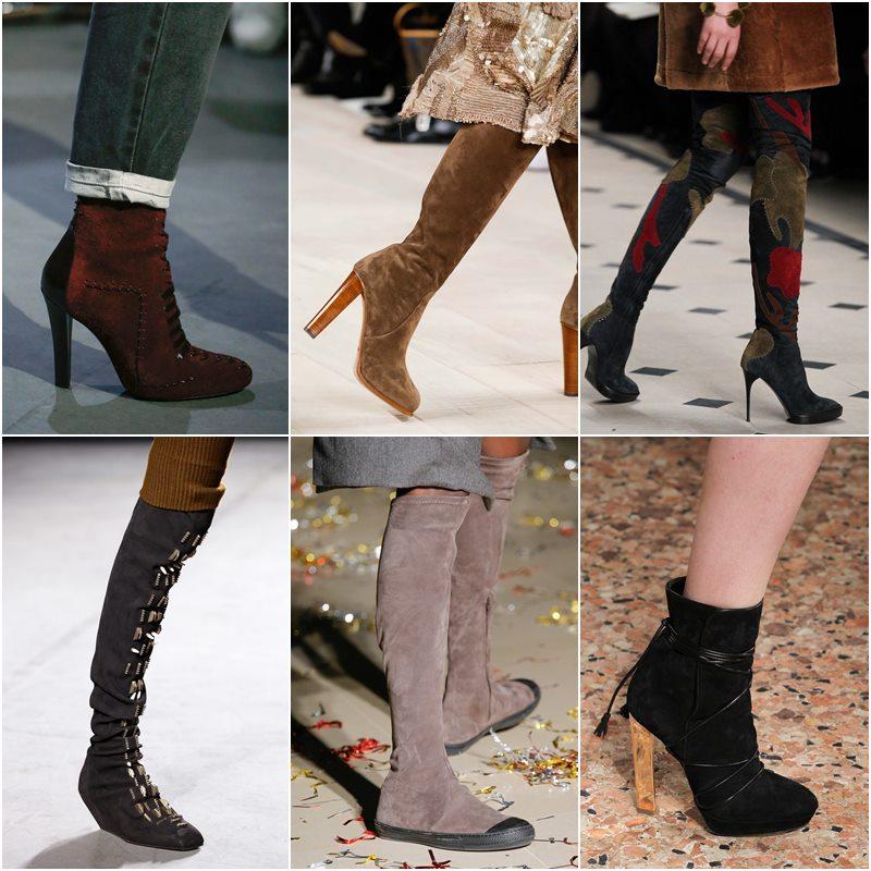 Замшевая обувь осень-зима 2015-2016