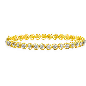 Золотые браслеты с бриллиантами 2015  (20)