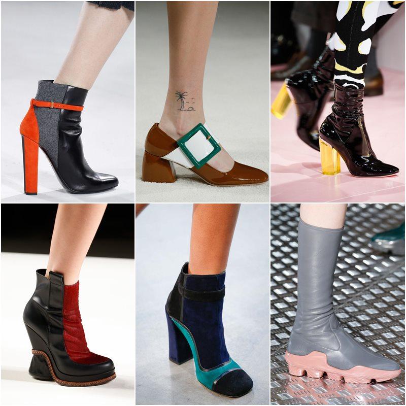 контрастная обувь осень-зима 2015-2016