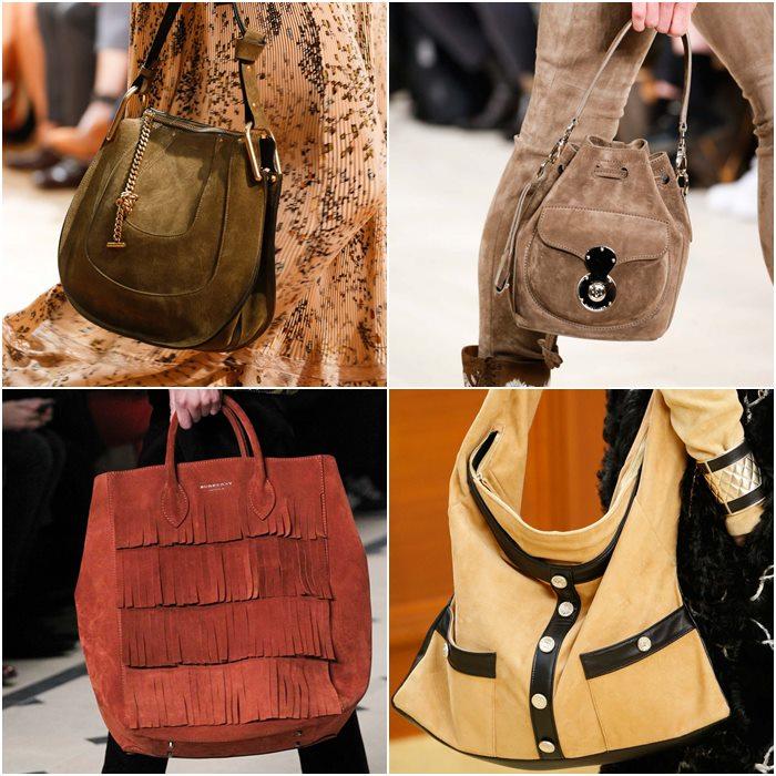 замшевые сумки осень-зима 2015-2016