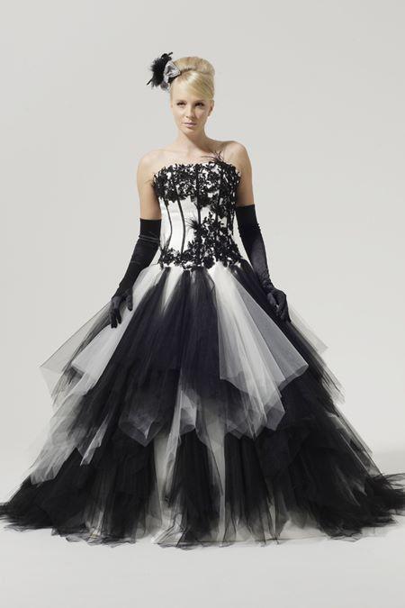 Черно-белые свадебные платья 2015-2016  Aimee