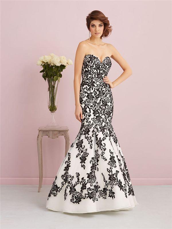 Черно-белые свадебные платья 2015-2016  Allure Romance