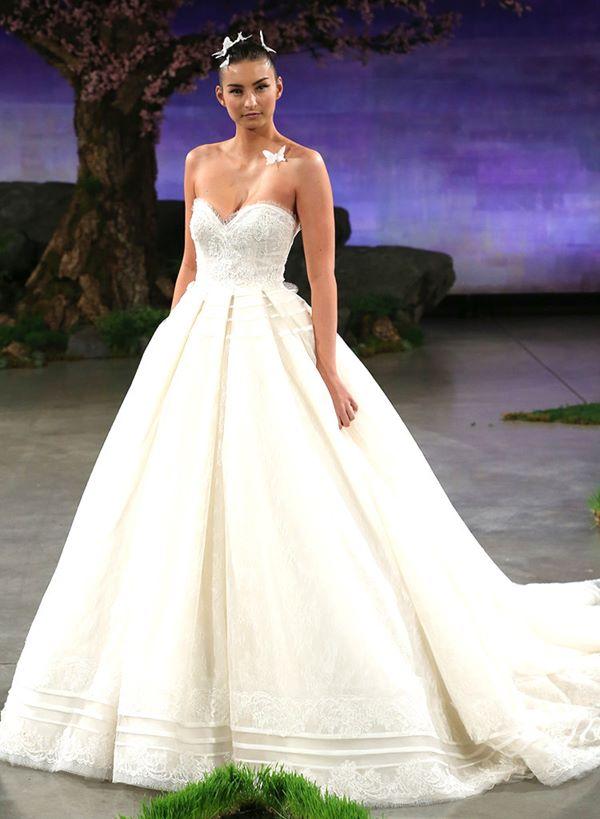 Свадебные платья бюстье 2015-2016 Angel Sanchez