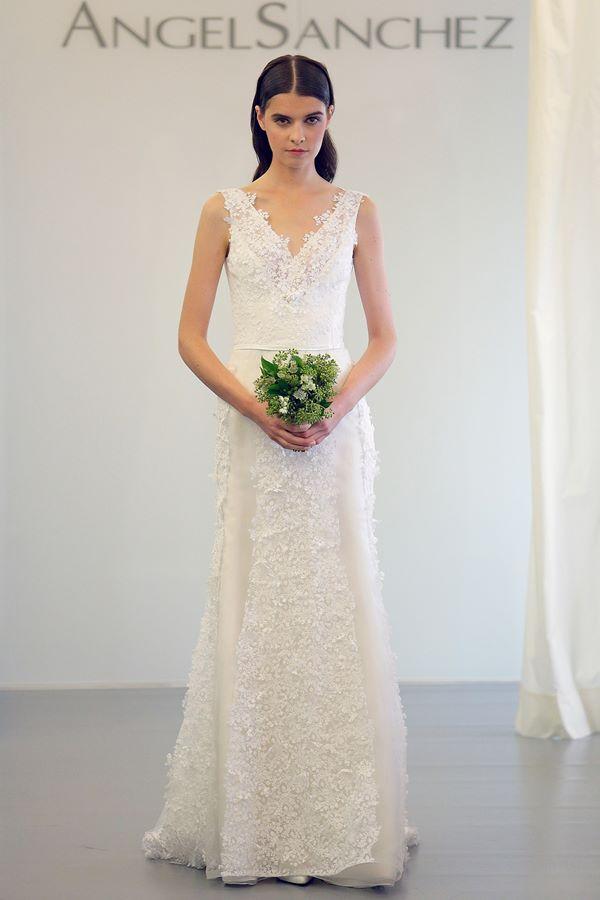 Свадебные платья с кристаллами и бусинами 2015-2016 Angel Sanchez