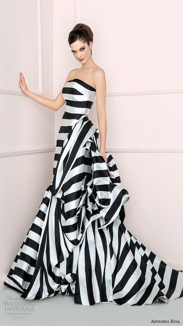 Черно-белые свадебные платья 2015-2016 Antonio Riva
