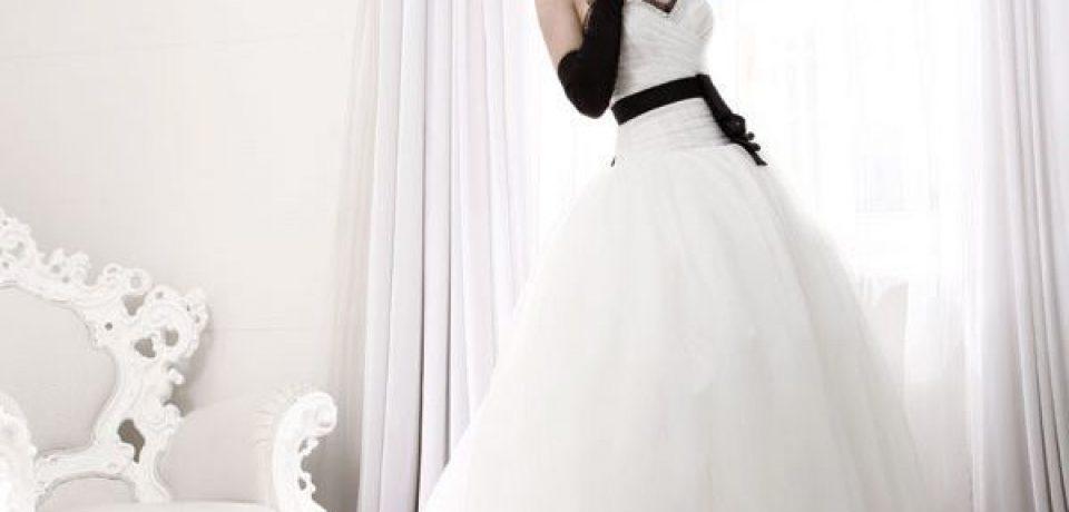 Черно-белые свадебные платья 2015-2016 (17 фото)