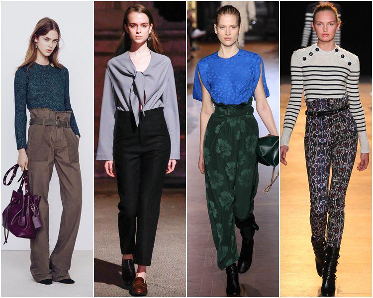 Мода осень-зима 2015-2016: брюки с завышенной талией