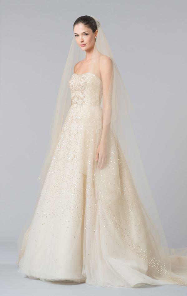 Свадебные платья с кристаллами и бусинами 2015-2016 Carolina Herrera