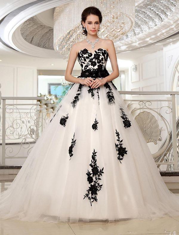 Черно-белые свадебные платья 2015-2016