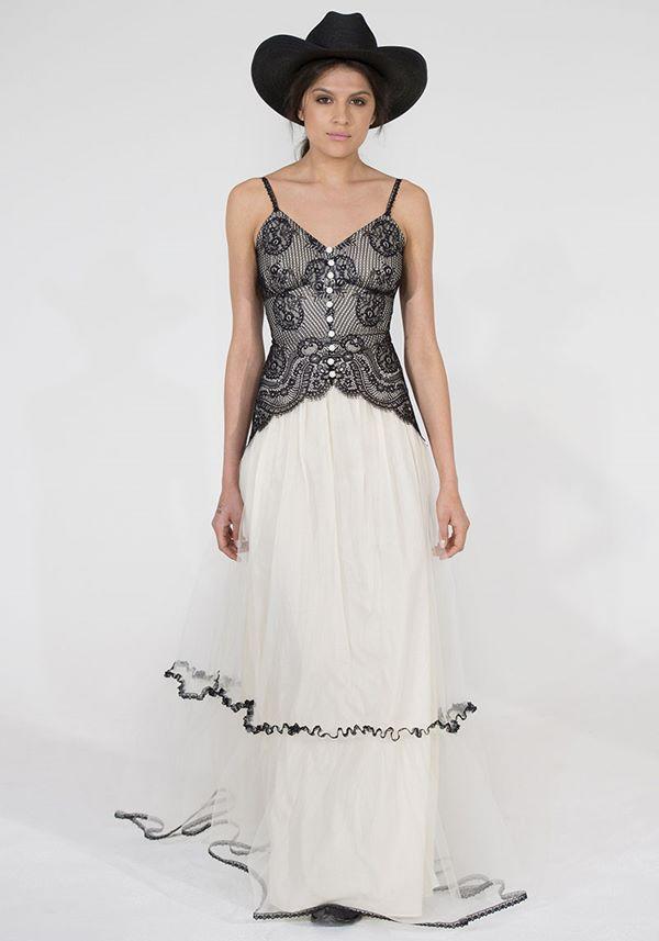 Черно-белые свадебные платья 2015-2016 Claire Pettibone