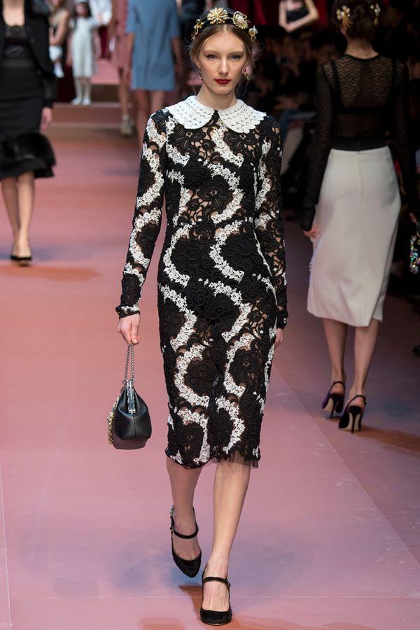 Кружевные платья осень-зима 2015-2016 Dolce & Gabbana