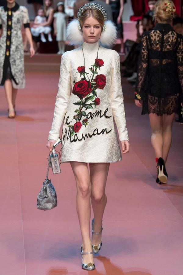Коктейльные платья осень-зима 2015-2016  Dolce & Gabbana