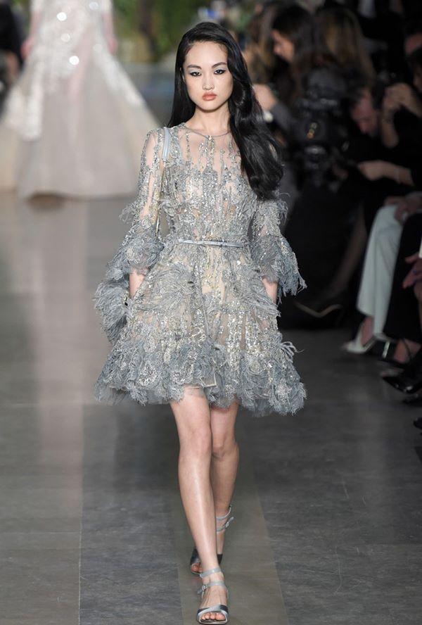 Свадебные платья с кристаллами и бусинами 2015-2016 Elie Saab