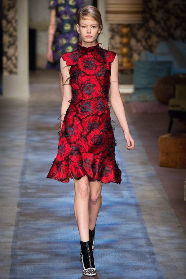 Коктейльные платья осень-зима 2015-2016  Erdem
