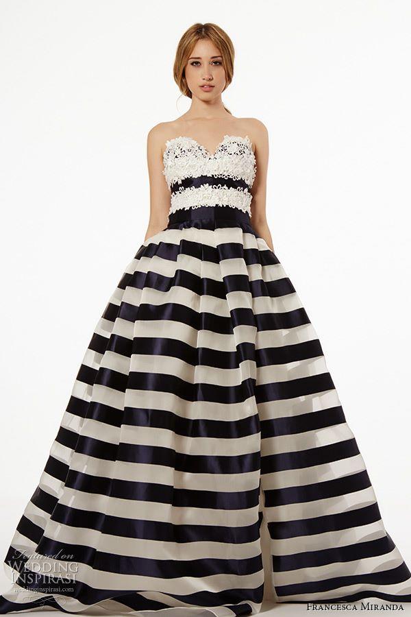 Черно-белые свадебные платья 2015-2016 Francesca Miranda