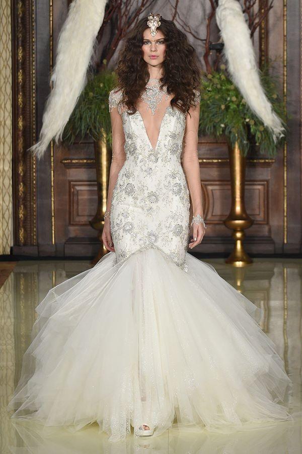 Свадебные платья с кристаллами и бусинами 2015-2016 Galia Lahav