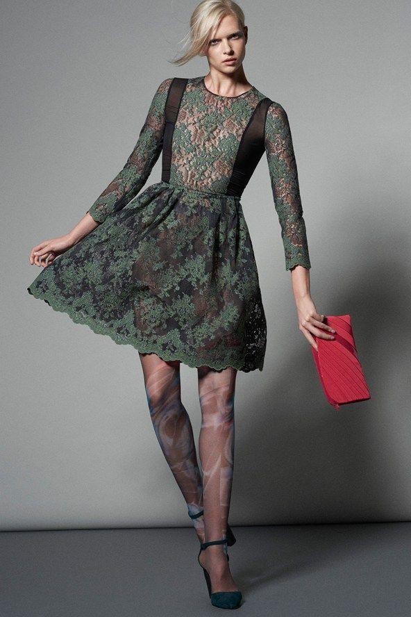 Кружевные платья осень-зима 2015-2016 Giorgio Armani