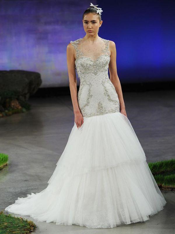 Свадебные платья с кристаллами и бусинами 2015-2016 Ines di Santo