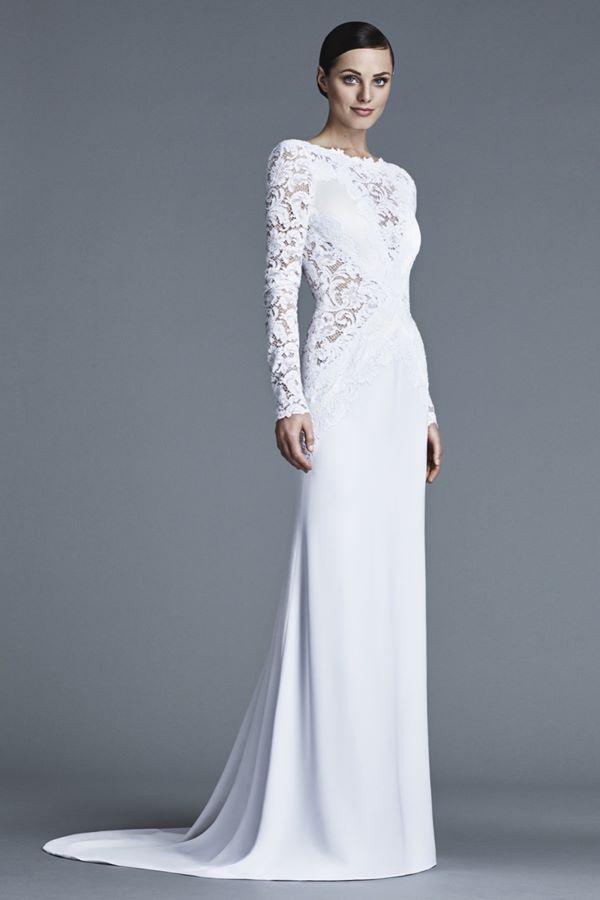 Свадебные платья с длинным рукавом 2015-2016 J. Mendel