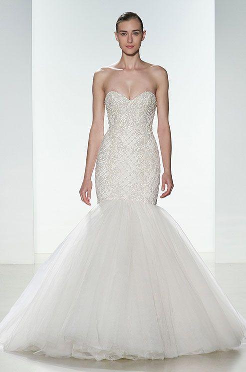 Свадебные платья с кристаллами и бусинами 2015-2016 Kenneth Pool
