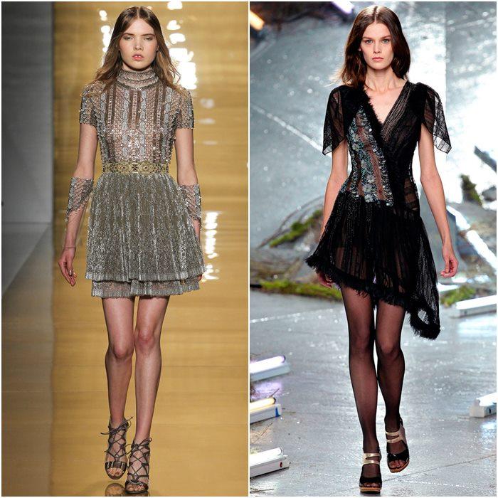 Короткие мини-платья осень-зима 2015-2016  (17)