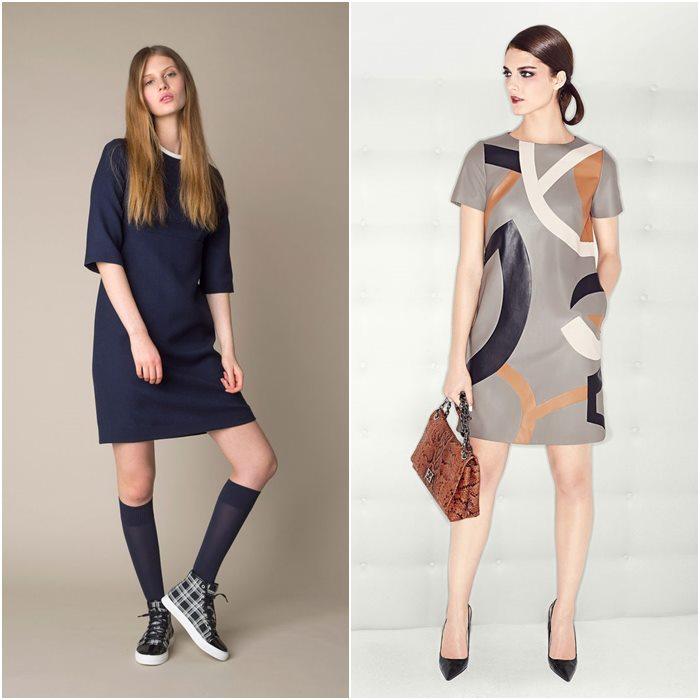Короткие мини-платья осень-зима 2015-2016  (8)