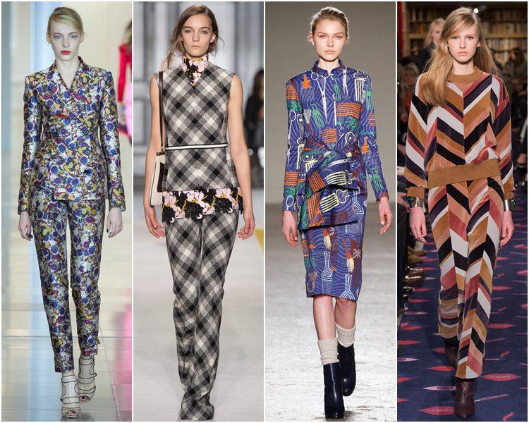 Мода осень-зима 2015-2016: костюмы с принтом