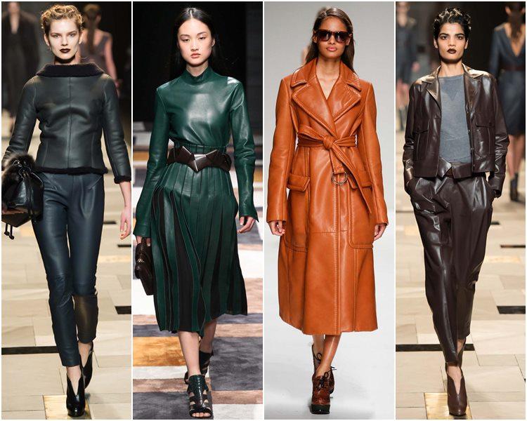 Мода осень-зима 2015-2016: кожаная одежда