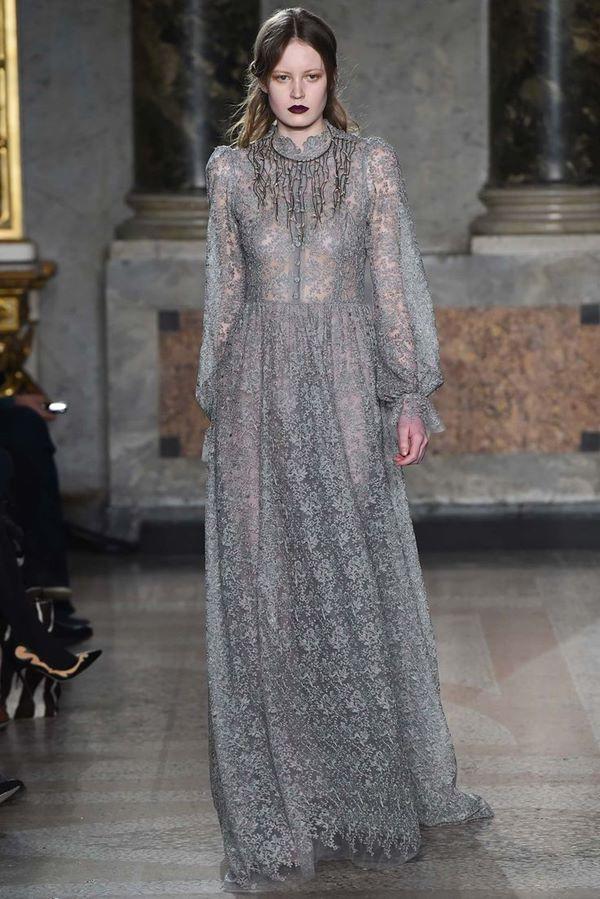 Кружевные платья осень-зима 2015-2016 Luisa Beccaria