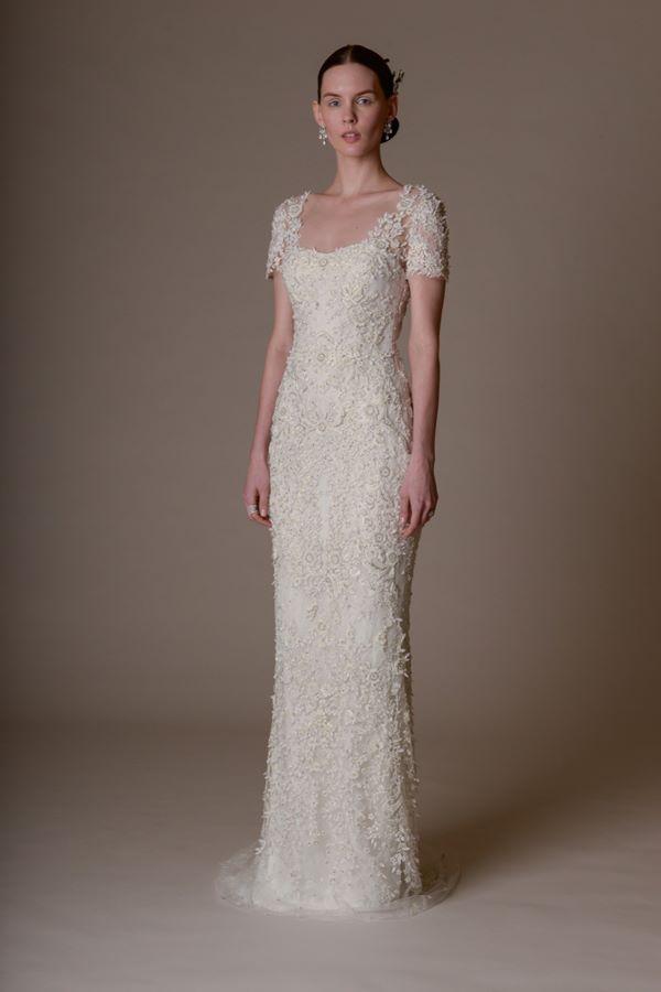 Свадебные платья с вышивкой и аппликациями 2015-2016 Marchesa