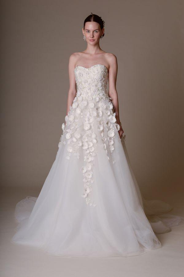 Свадебные платья бюстье 2015-2016  Marchesa