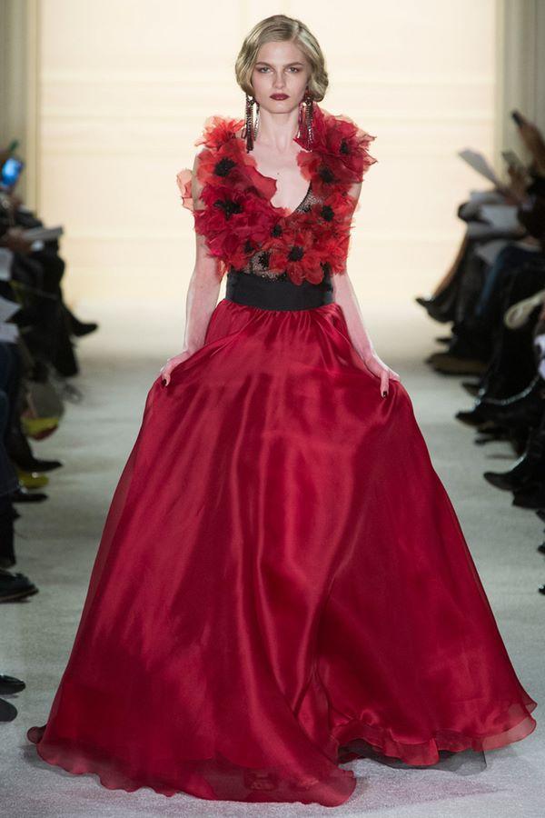 Вечерние платья А-силуэта осень-зима 2015-2016 Marchesa