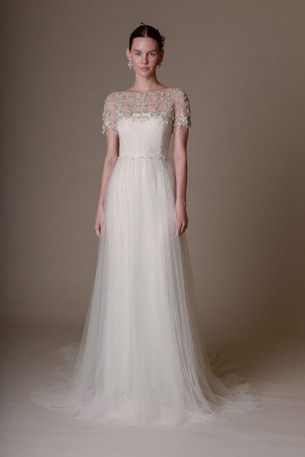 Свадебные платья с кристаллами и бусинами 2015-2016 Marchesa