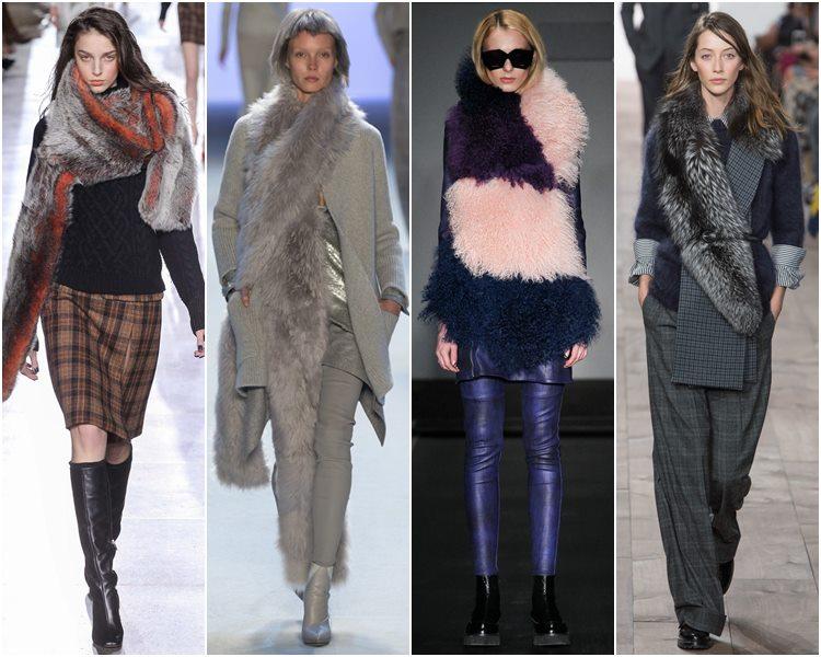 Мода осень-зима 2015-2016: меховые шарфы и палантины