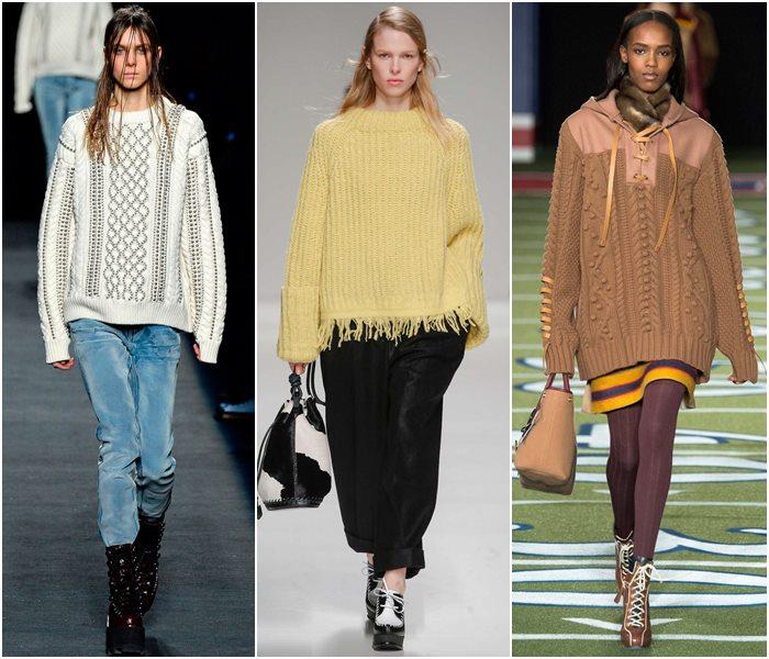 Модные свитера осень-зима 2015-2016 фото  (16)