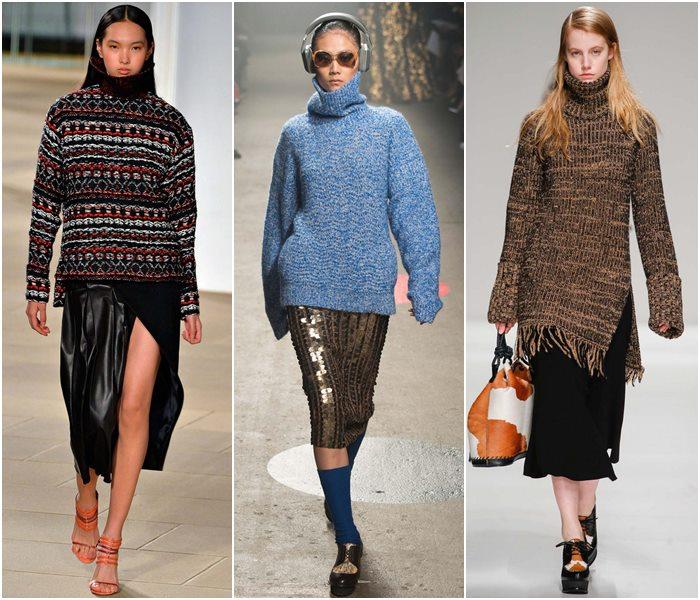 Модные свитера осень-зима 2015-2016 фото  (3)